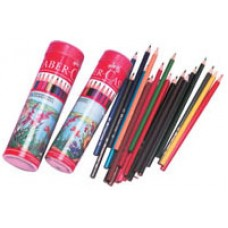 FABER RED RANGE - TUB 12 - WATER COLOUR PENCILS