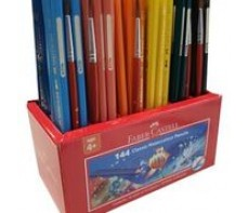 FABER CASTELL WATERCOLOUR COLOURED PENCILS - CADDIE 144