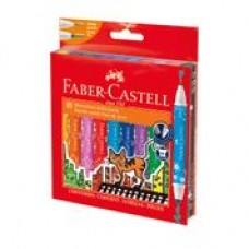 FABER CASTELL DOUBLE POINT MARKERS JUMBO 10'S