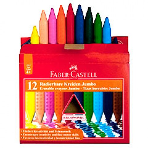 Faber-Castell Jumbo Grip Crayons Pack of 12