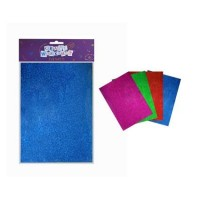 FOAM GLITTER SHEETS A4 4 PIECE PACK