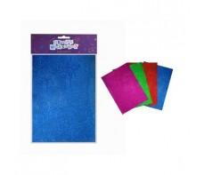 FOAM GLITTER SHEETS A4 4 PIECE PACK