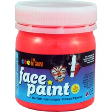 FAS FACE PAINTS 120ML FLUORO RED