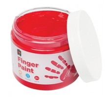 FINGER PAINT 250ML JAR RED