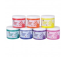 FINGER PAINT 250ML JAR SET 7 COLOURS