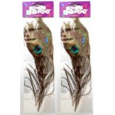 MINI PEACOCK FEATHERS 2 PACK
