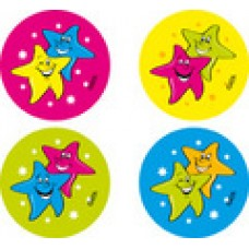 FLUORO MERIT STICKERS - STARS - FS210