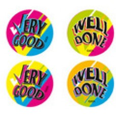 FLUORO MERIT STICKERS - VERY GOOD WELL DONE - FS211