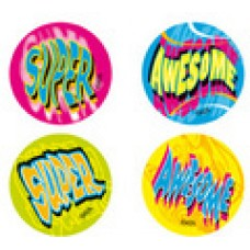 FLUORO MERIT STICKERS - SUPER AWESOME - FS213