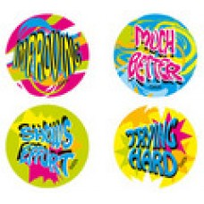 FLUORO MERIT STICKERS - ENCOURAGEMENT - FS214
