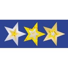 MERIT FOIL STICKERS - GOLD STARS - PKT OF 105 - FS238