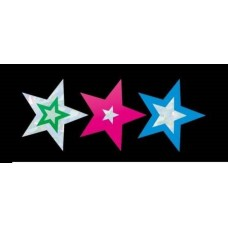 MERIT FOIL STICKERS - SILVER STARS - PKT OF 105 - FS239