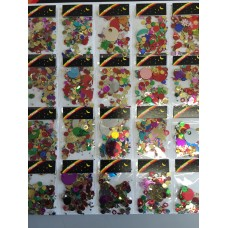GLITTER CONFETTI - CARDED ASSORTED