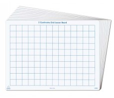 WRITE N WIPE 2CM GRID WHITEBOARD PLASTIC A4