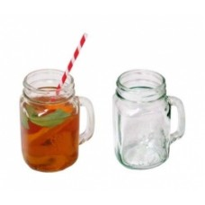 GLASS JARS WITH SIDE HANDLE