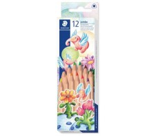 STAEDTLER NATURAL JUMBO COLOURED PENCILS BOX 12