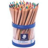 STAEDTLER NATURAL JUMBO COLOURED PENCILS TUB 72