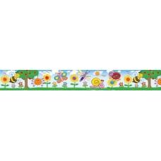 LARGE BORDER - BUGS & FLOWERS - LB499