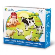 JUMBO ANIMAL SETS - FARM ANIMALS MOTHERS AND BABIES