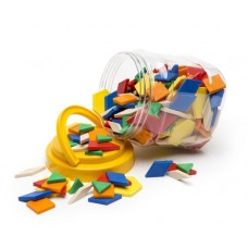 PATTERN BLOCKS PLASTIC - 250'S - IN JAR - LPBP