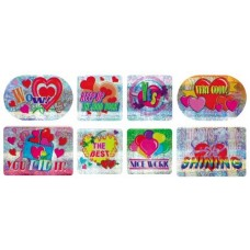 MERIT STICKERS - HEARTS / FUN - LASER - LS152