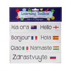 MAGNETIC LETTERS MAGNETS - HELLO IN 20 LANGUAGES