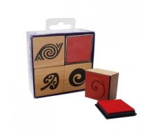 MAORI TEACHER STAMPS PATTERNS - 3 PIECE - PLUS INK