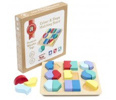 COLOUR AND SHAPE MATCHING BOARD WOODEN