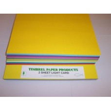 A4 COLOURED CARD BRIGHT PACKS 150gsm 10 colours 200's