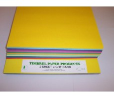 A4 COLOURED CARD BRIGHT PACKS 140gsm 10 colours 200's