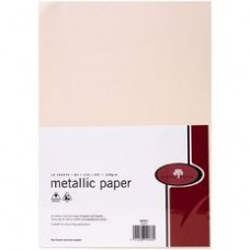 METALLIC PAPER A4 120GSM - 10 Pack CORAL