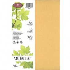 METALLIC PAPER A4 120GSM - 10 Pack GOLD