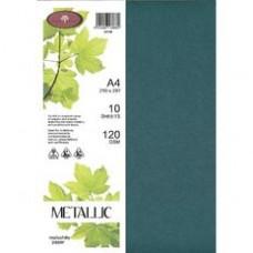METALLIC PAPER A4 120GSM - 10 Pack MALACHITE