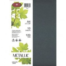 METALLIC PAPER A4 120GSM - 10 Pack ANTHRACITE