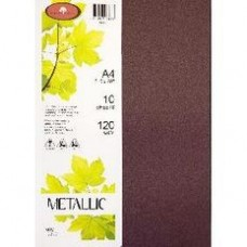 METALLIC PAPER A4 120GSM - 10 Pack RUBY