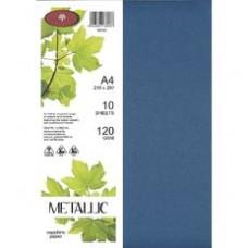 METALLIC PAPER A4 120GSM - 10 Pack SAPPHIRE