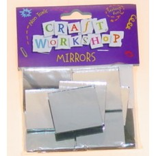 MIRRORS SQUARE 25MM 25 PIECES