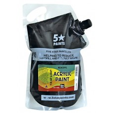 FIVE STAR NZACRYL ACRYLIC PAINT POUCH 1.5L - BLACK