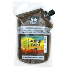FIVE STAR NZACRYL ACRYLIC PAINT POUCH 1.5L - BURNT SIENNA