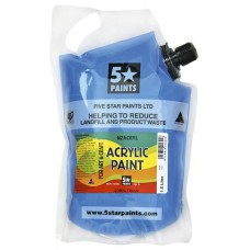 FIVE STAR NZACRYL ACRYLIC PAINT POUCH 1.5L - COBALT BLUE