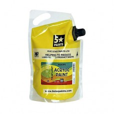 FIVE STAR NZACRYL ACRYLIC PAINT POUCH 1.5L - COOL YELLOW