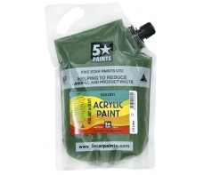 FIVE STAR NZACRYL ACRYLIC PAINT POUCH 1.5L - FOREST GREEN (DARK)