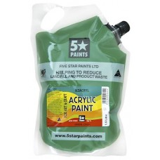 FIVE STAR NZACRYL ACRYLIC PAINT POUCH 1.5L - GREEN DEEP