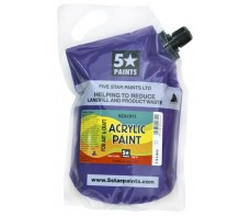FIVE STAR NZACRYL ACRYLIC PAINT POUCH 1.5L - PURPLE
