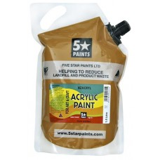 FIVE STAR NZACRYL ACRYLIC PAINT POUCH 1.5L - RAW SIENNA