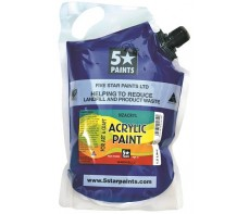 FIVE STAR NZACRYL ACRYLIC PAINT POUCH 1.5L - WARM BLUE