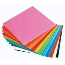 ADHESIVE PAPER SQUARES - ASSORTED COLOUR - 150MM X 150MM