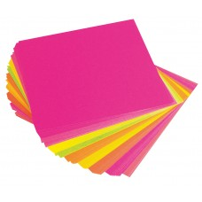 ADHESIVE PAPER SQUARES - FLUORO 100'S - 150MM X 150MM