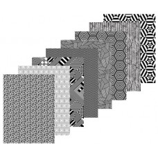 CONTRAST PATTERN PAPERS A4 ASST 40 SHEETS