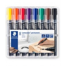 STAEDTLER PERMANENT MARKERS CASE 8 ASSORTED